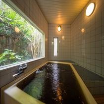*天然温泉(別館一例)。ファミリー、グループで貸切出来ます♪