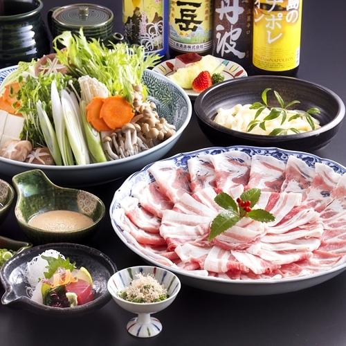 夕食メニュー/鹿児島産黒豚しゃぶしゃぶ