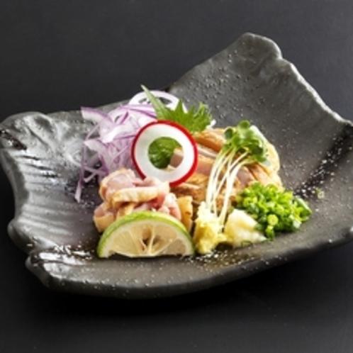 夕食メニュー/地鶏刺身