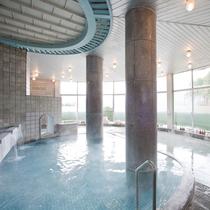 *【大浴場】展望風呂「さくらの湯」自家源泉の単純泉を使用しています