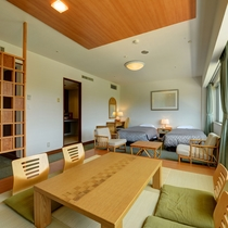 *【禁煙:和洋室】42平米:洋室ベッドルーム+和室8畳なのでゆったり寛げます
