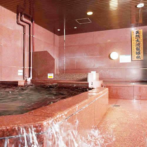 準天然温泉光明石の大浴場(※ご利用はチェックイン〜翌朝10:00まで夜間も通していつでも利用できる)