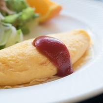 *【ご朝食一例/オムレツ】素朴だけど元気が出る、そんな朝ごはん。