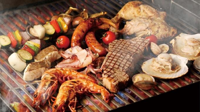 【ビアテラス/BBQシーフードプレート/土日祝】海辺のリゾートで楽しむブッフェ&ドリンク(夕朝食付)