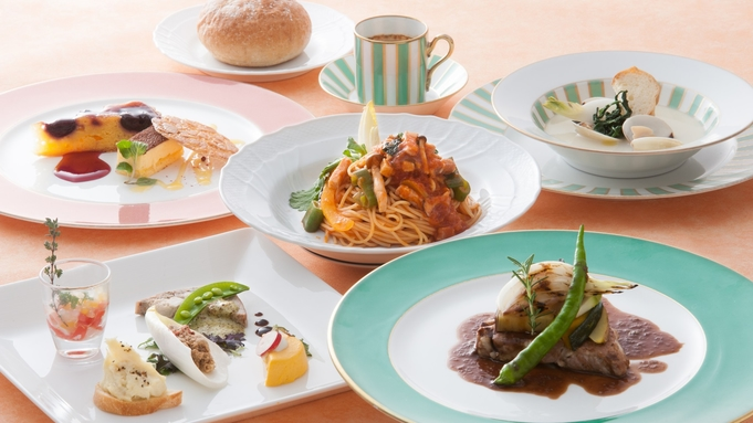 【地産地消イタリアン】お肉料理が選べる!オリーブランチ+【美肌の湯】嬉野温泉入浴