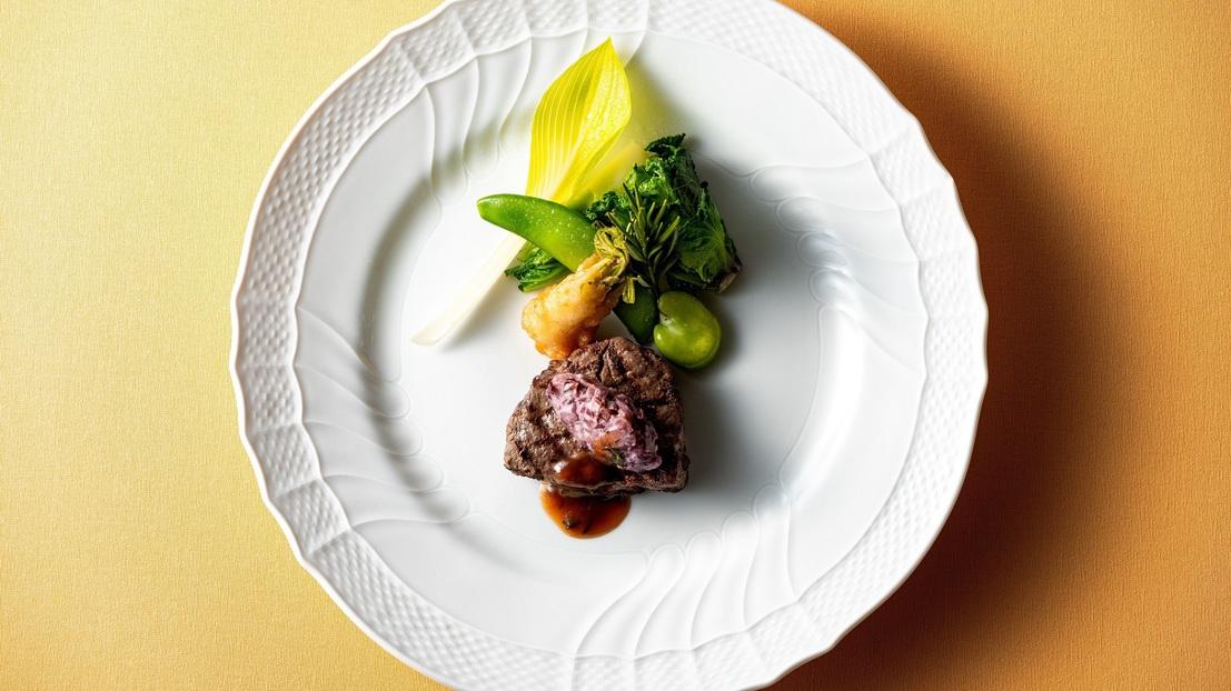 メイン一例 特選佐賀牛フィレのグリル 旬野菜ソース