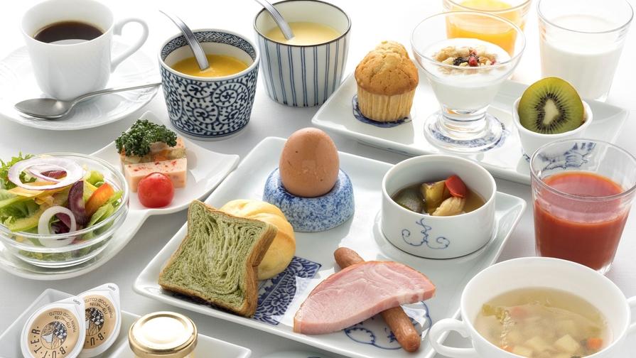 【オーベルジュで優雅な朝食】料理長自慢の地産地消にこだわったヘルシーブレックファストステイプラン