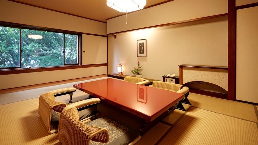 寝室部分が12畳の和室のスイートルーム