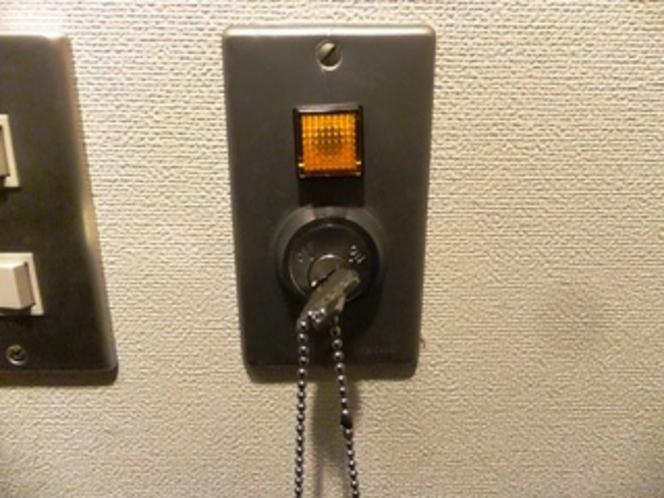 電気(ルームキー差込口)
