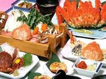 ≪満足カニ・フルコースプラン≫蟹刺身+蟹しゃぶしゃぶ+蟹天婦羅+蟹姿盛
