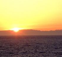 佐渡の沈む夕日