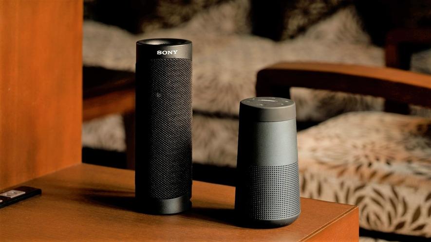【客室装備】浪漫ルームには全室Bluetoothスピーカーを設置しております。
