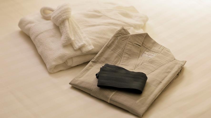 【客室装備】浴衣・バスローブ