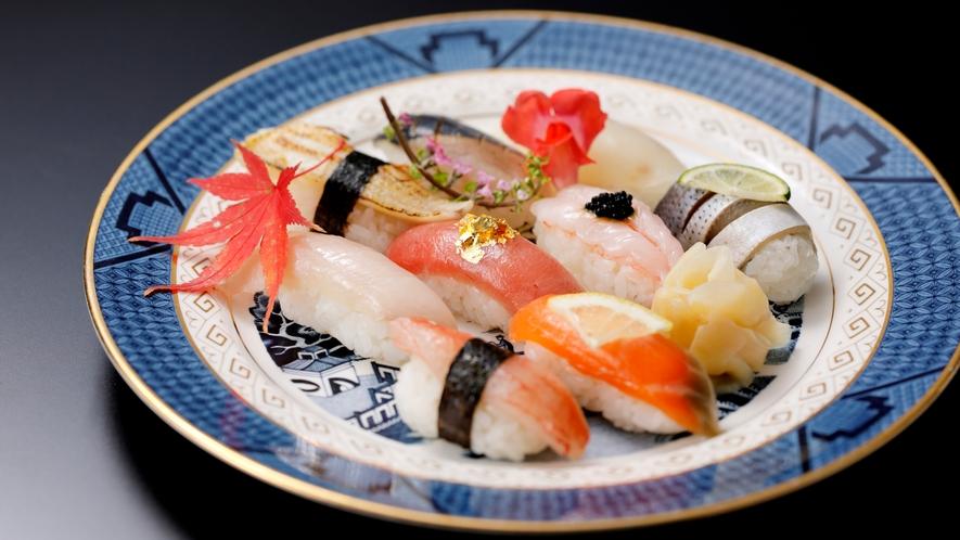 【加賀料理まほろば】旬魚の握り盛り合わせ