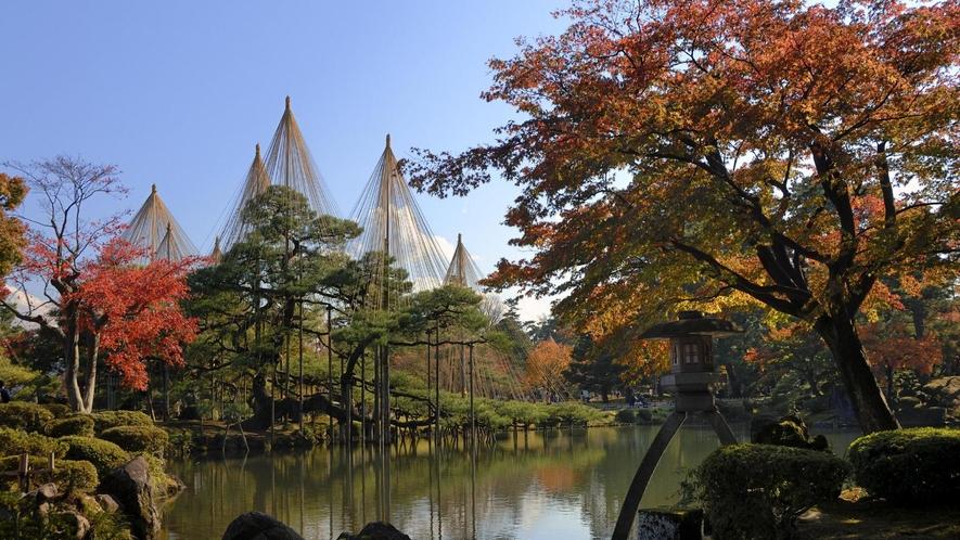 【秋】紅葉の兼六園