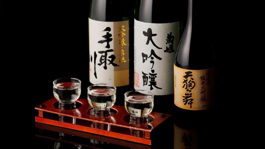 【加賀料理まほろば】地酒など、お食事に合うお酒を各種ご用意しております。