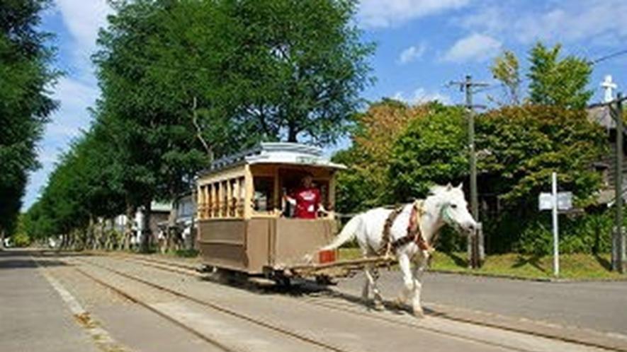 北海道開拓の村「馬車鉄道」