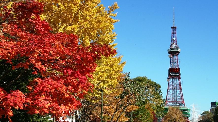 北海道の秋 札幌テレビ塔