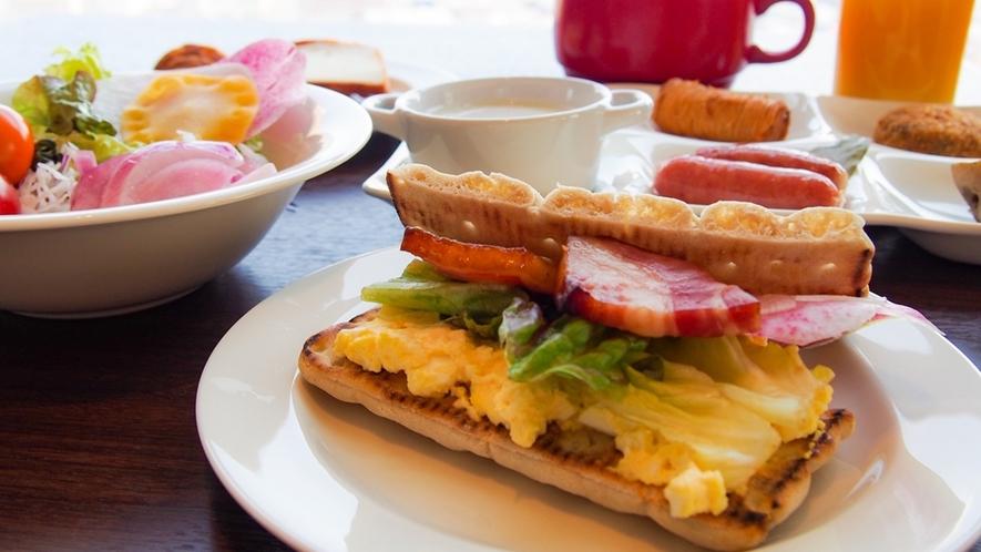 朝食イメージ ~ 31F Sky Restaurant Hareus(アレンジ無限のサンド)