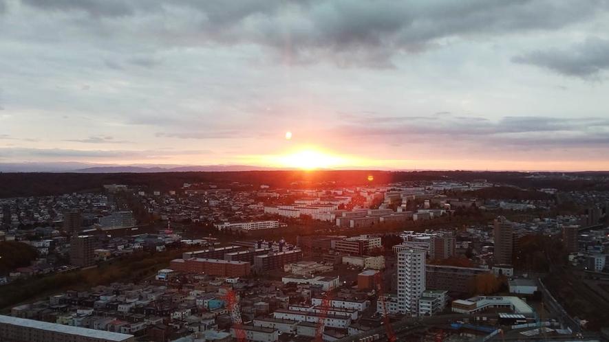 スカイレストラン「Hareus」から見える日の出