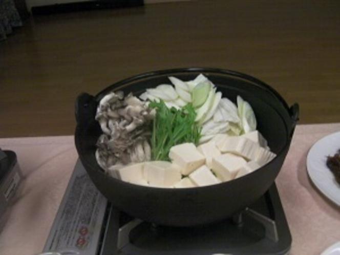 夕食の一例(季節の鍋もの)