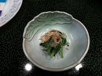朝食の一例(青菜)