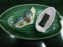 朝食の一例(魚)