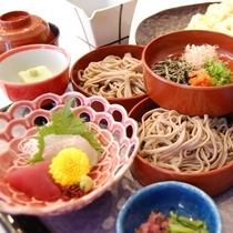 【夕食】出雲名物・割子そば(出雲蕎麦)御膳 (イメージ)