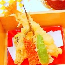 【夕食】天婦羅盛り/食彩豊かにバラエティ♪「松花堂」 (イメージ)