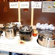 炊きたて♪「仁多米」 出雲の朝はこれ!「しじみのお味噌汁」 仁多米の朝カレー!