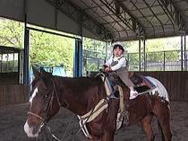 おチビちゃんには引き馬が喜ばれます