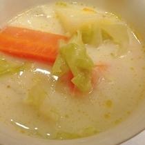 朝食のスープ