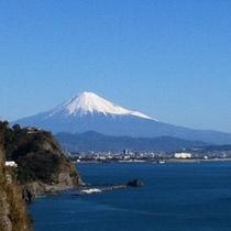 ホテルから見える富士山 ベイテラスより撮影(2014.1)