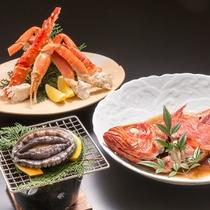 夕食一例(海鮮デラックス プラン!)