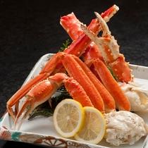 夕食一例(ズワイ・タラバ蟹)