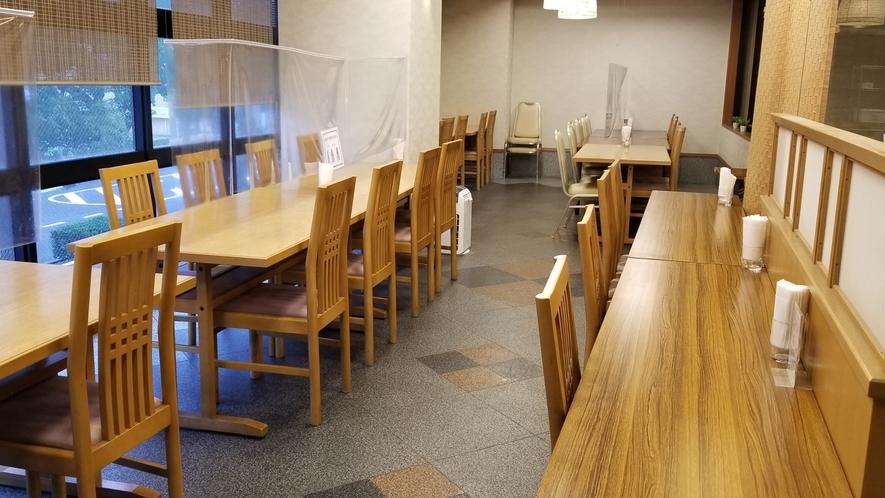 【無料朝食会場】2階レストラン 50席 コロナ対策中