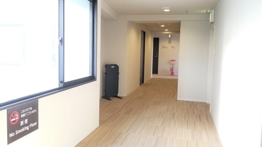 【客室廊下】8階9階高層階の廊下