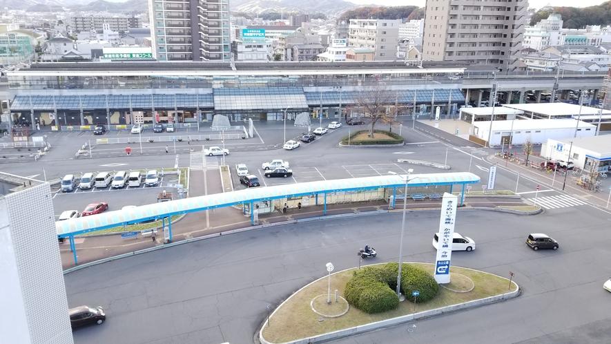 【客室からの風景】今治駅