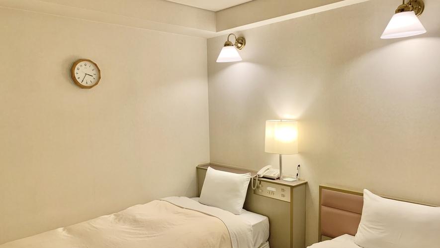 【ツインルーム新館】100センチ幅ベッド
