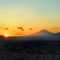 景色 夕景 富士山