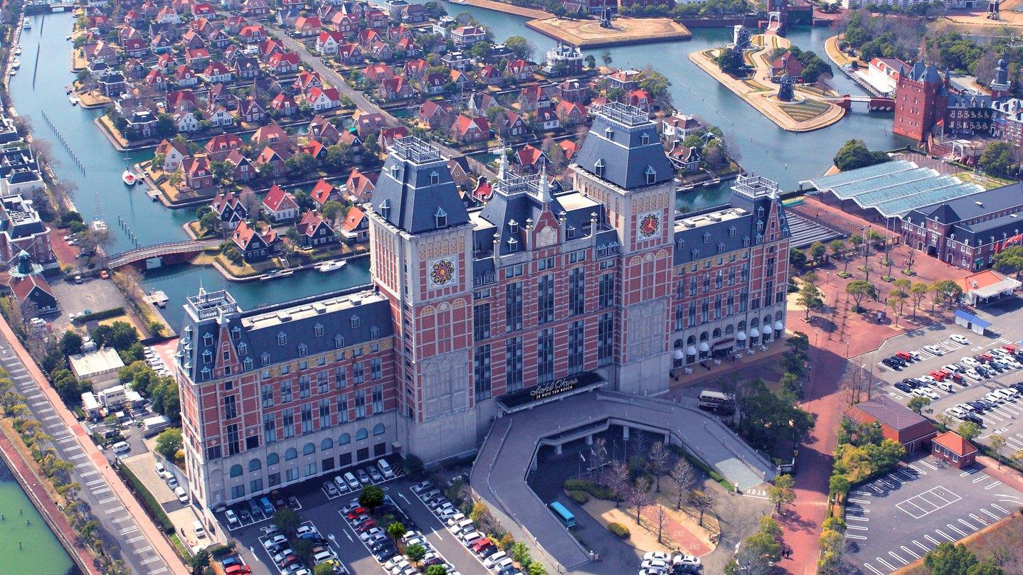 【上空から見たホテル外観】