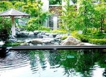 天然温泉(大浴場)と露天風呂