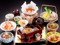 「鯛・蟹・鰤&河豚鍋」味覚会席(イメージ)
