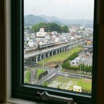 窓から電車