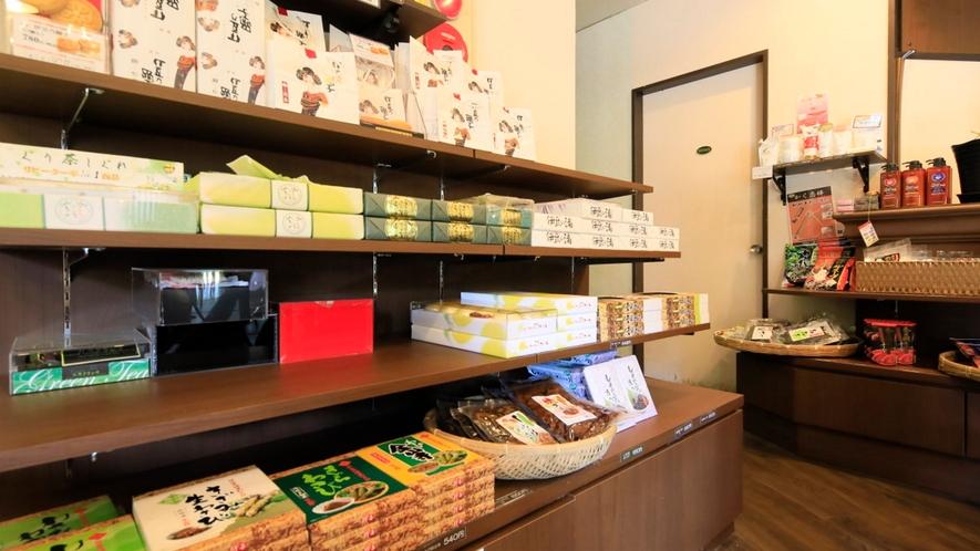 静岡ならではのお土産たち。お食事後や帰り際に覗いてみてください♪
