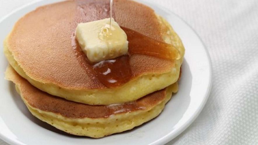 小学生未満のお子様には、朝食にパンケーキをご用意いたします♪