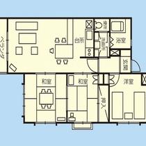 「全ての客室」間取りはこのようになっております。