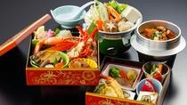 *【重箱御膳:伊勢海老+鮑(イメージ)】伊勢海老料理をプラスした、贅沢な重箱御膳!