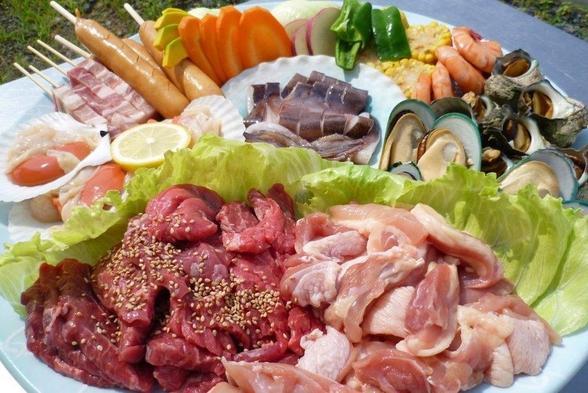 【当館人気】【ポイント10倍】海鮮バーベキュー!牛肉グレードUPプラン!