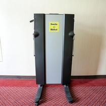 館内施設―客室階ズボンプレッサー(各階3台)